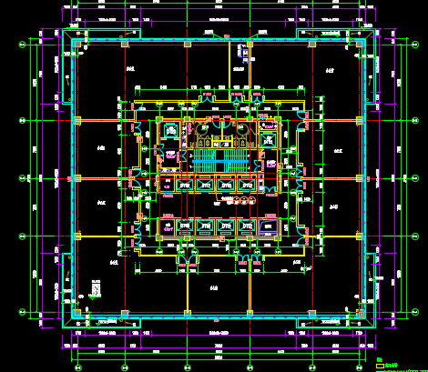 高层框剪结构单元式住宅建筑施工图纸免费下载 建筑户型平面图