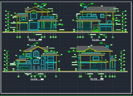 三层别墅建筑设计图