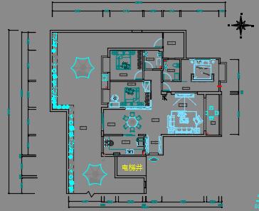 130平米住宅装修设计图纸