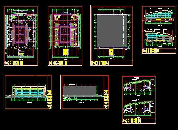 篮球馆CAD施工图免费下载-建筑详图、绿色cad中文版图库中文版图片