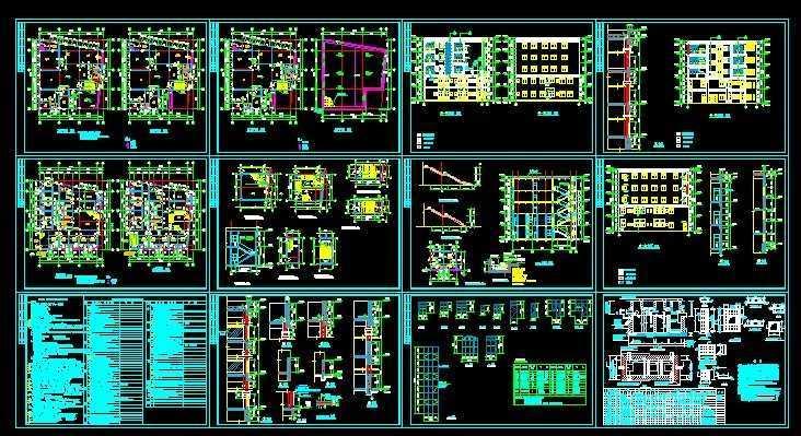 多层住宅建筑施工图纸