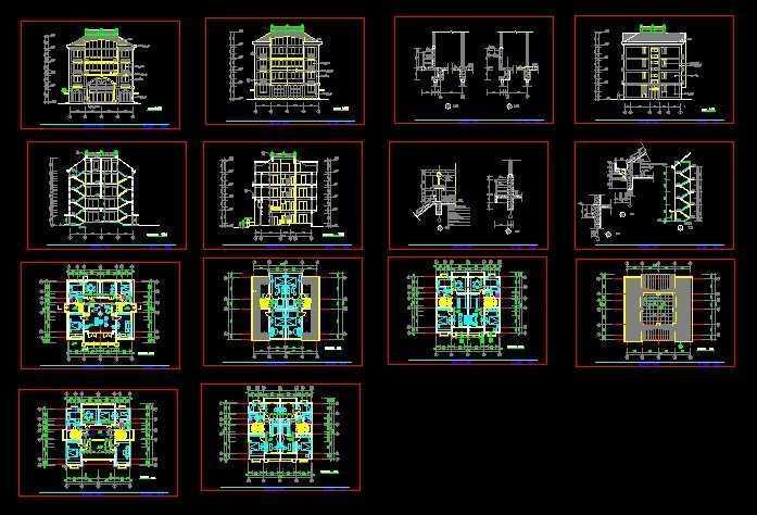 五层住宅建筑施工图免费下载
