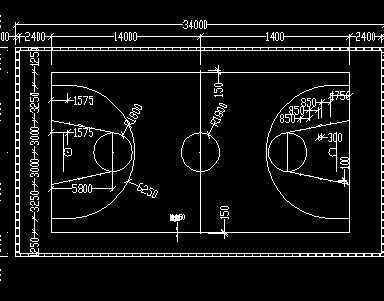 篮球场设计图