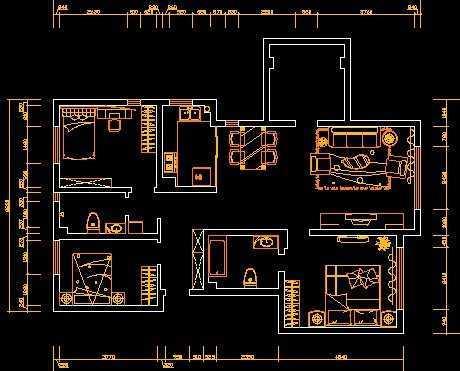户型装修施工图