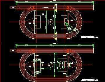 200米跑道足球场平面图;