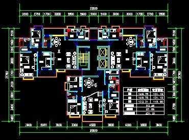 建筑户型cad平面图