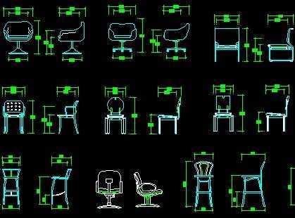 cad立面图库----椅子