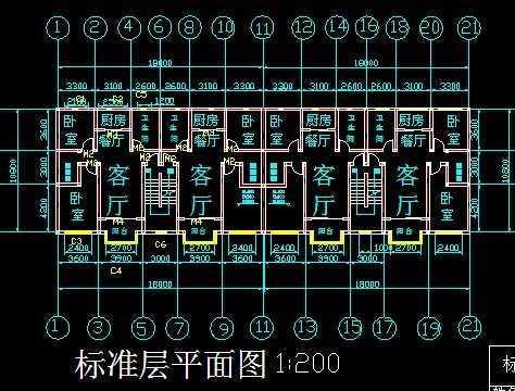 单元式多层住宅施工图免费下载 建筑户型平面图