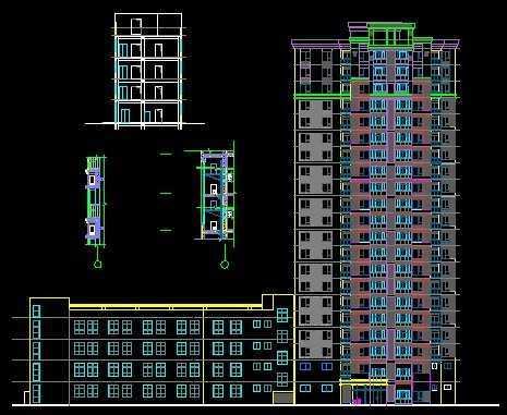 高层建筑施工图免费下载