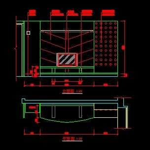 电视柜墙CAD素材图