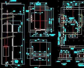 医院专用日立病床电梯土建施工图 高清图片