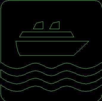 建筑常用轮船标识符号