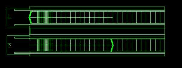 cad商场扶手电梯平面图免费下载 建筑详图 图库图片