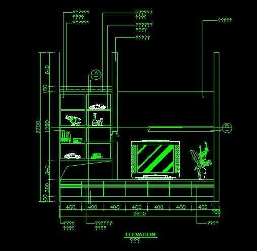 卡巴斯基免费版_cad装饰柜立面施工图免费下载 - 建筑详图、图库 - 土木工程网