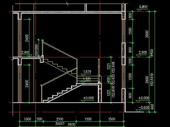 某十一层板式住宅楼梯详图