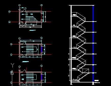 卡巴斯基免费版_楼梯平面、剖面图免费下载 - 建筑详图、图库 - 土木工程网