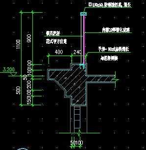 欧式阳台护栏安装平面图