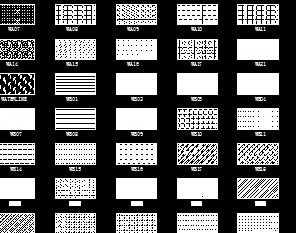 CAD建筑图库免费下载-填充图案、详图投影仪cad画法平面图图片