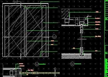 电梯玻璃门图纸免费下载-建筑详图、详图yl图库建筑指中图片