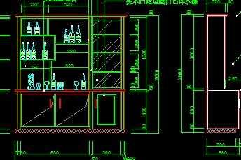 cad酒柜立面图下载_CAD中式酒柜模板下载图片编号12152160_