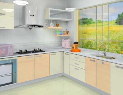 室内设计厨房整体橱柜设计图