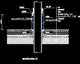 倒置式屋面穿出管道防水大样图图片