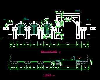 某欧式大门建筑施工图