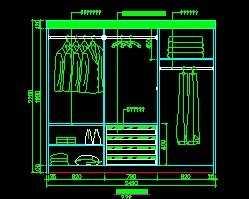 大衣柜设计图图片