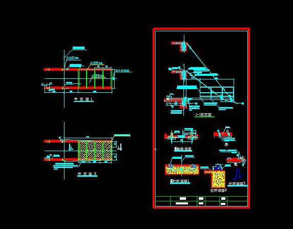 卸料平台平面设计图