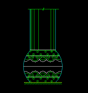 CAD柱图块