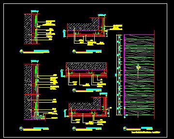 木饰面干挂设计节点图