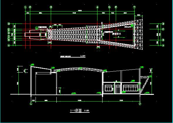 厂区大门设计施工图