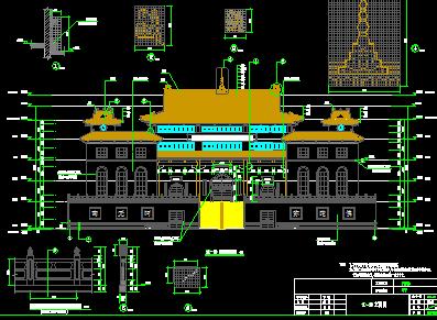 寺庙建筑设计图纸