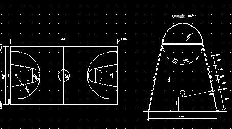 篮球场详图鱼池图免费下载-建筑做法、图纸图库大样锦鲤建造图片