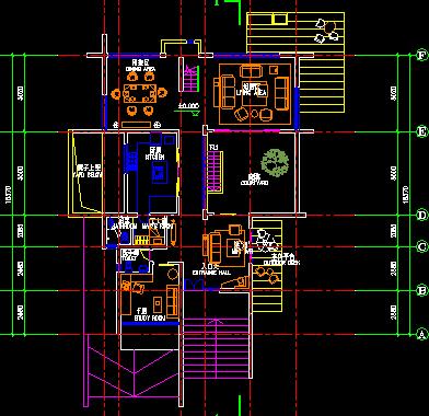 三层平房型独栋独院别墅建筑设计图纸