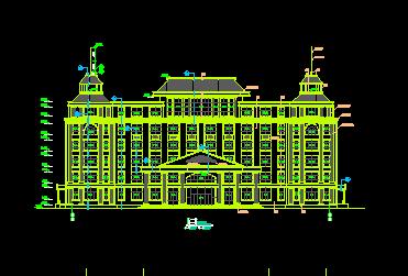 欧式建筑立面设计详图免费下载