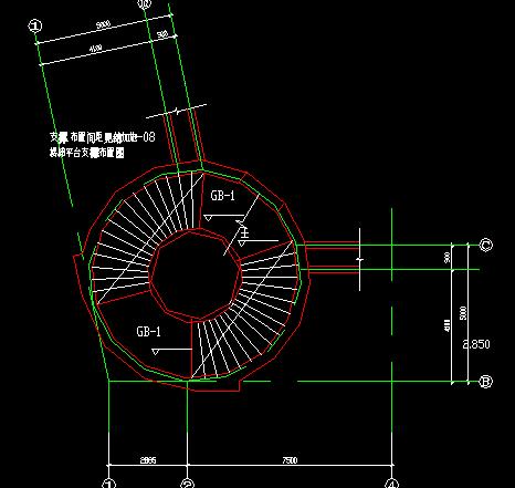 旋转楼梯节点详图