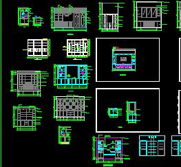 36款酒柜建筑CAD图块