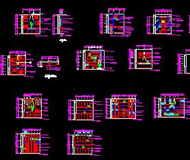 20套书柜小品CAD详图