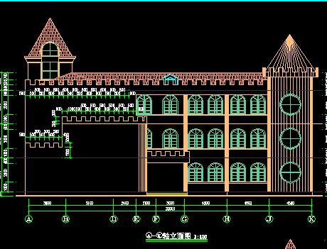 三层幼儿园施工图纸(含建筑结构水电)
