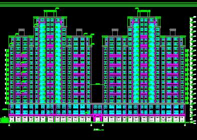 21层商住楼建筑施工图纸