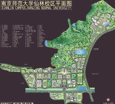 南京师范大学仙林校区平面图图片