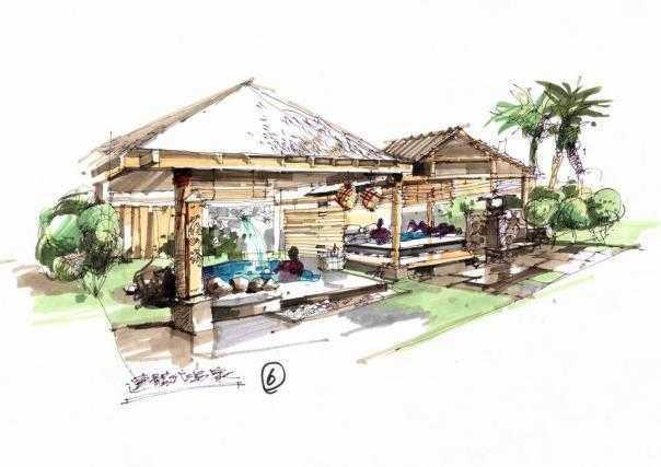 经典园林手绘图纸免费下载