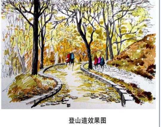 手绘作品18; 亭廊设计手绘效果图图片分享;