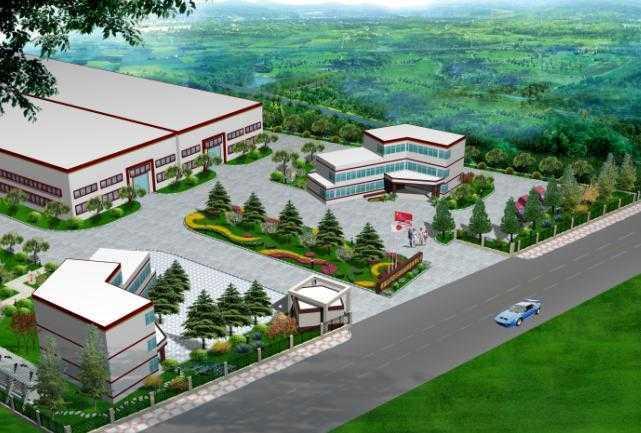厂区局部景观,鸟瞰图及平面图