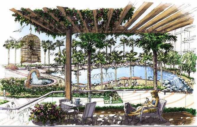西海明珠景观设计手绘图