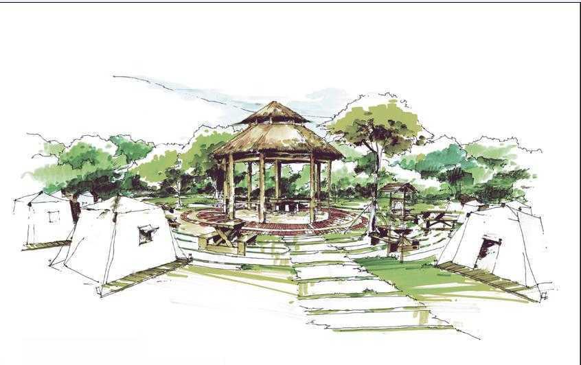 园林手绘图集合免费下载 建筑效果图