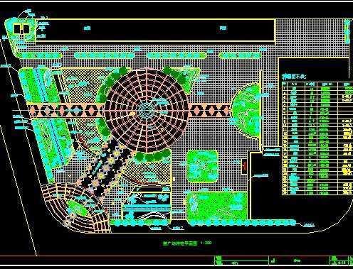某广场规划平面图