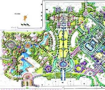 某住宅小区规划手绘图免费下载 建筑效果图