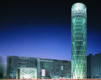 某商业综合楼效果图免费下载 建筑效果图高清图片